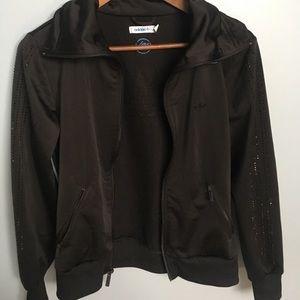 Black Adidas Sequined Track Jacket